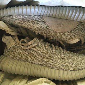 gray Mens Kanye West Yeezy Boost 350 Adidas MOONROCK all gray MOON ROCK