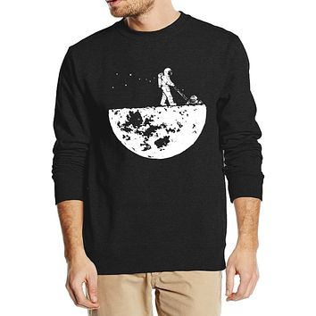 Develop The Moon - Cool Men's Casual O-neck Sweatshirt - Printed