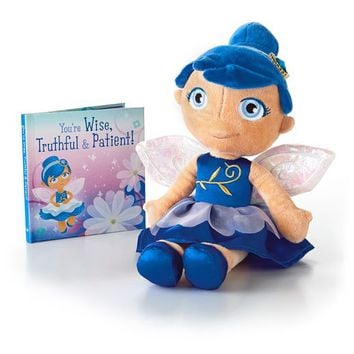 My September Sapphire Birthstone Fairy Stuffed Animal and Book Set of 2