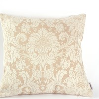 """Noblidonna 18"""" 18"""" Pillowcase Chinese Embroidery Flowers Throw Pillow Cover Flowers (NO INSERT) 2 PIECE YELLOW 45CM"""