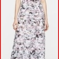 BCBG AGATE COMBO MESH TIERED STRAPLESS EVENING GOWN M NWT $398-RACKG/83