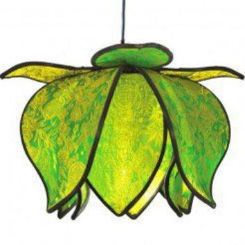 Hanging Baby Blooming Lotus Lamp - Lime