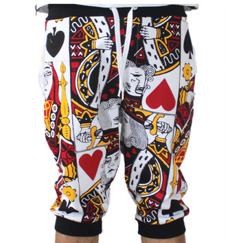 Poker Face Short Jogger Pants