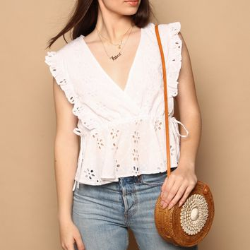 MINKPINK All Your Own Eyelet Top