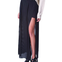 Love Moves Pleats Maxi Skirt - Black