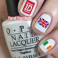 One Direction Nail Decals