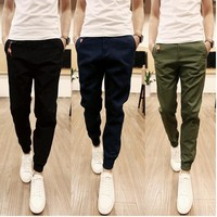 New design 2017 Fashion Men Pants Casual Cotton Men jogger pants Leisure Pants men Trousers size S-3XL