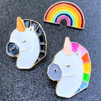 Rainbows n' Unicorns enamel pins