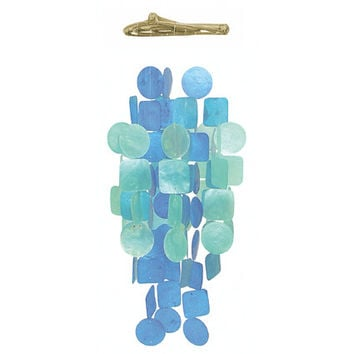 Capiz Shell Wind Chime - Blue & Turquoise