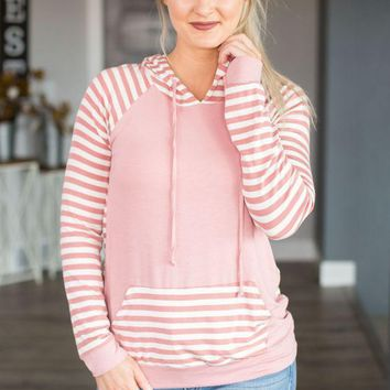 ESBVA6 Wish Upon A Star Striped Hoodie- Multiple Options