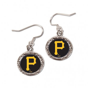 Pittsburgh Pirates Earrings Round Design