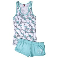 Hello Kitty Juniors Racerback Tank & Short Sleep Set - Blue