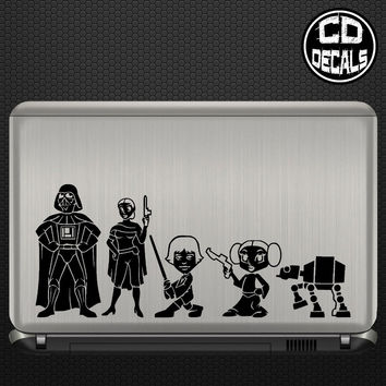 Star Wars Stick Figure Family Vinyl Decal Sticker Car Window Wall Laptop Cartoon 4 SIZES
