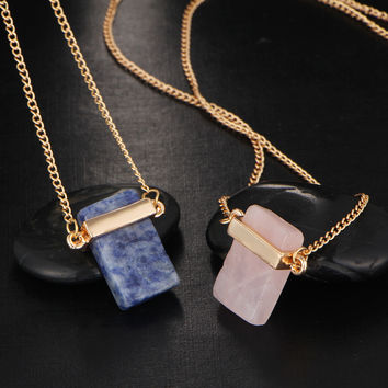 17KM Women Gift Bohemia Maxi Women Chocker Jewelry Gold Color Fashion 2016 Sweater Stone Pendant Statement Necklaces for Women
