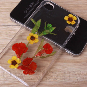 iPhone 6 case iPhone 6 plus Pressed Flower, iPhone 5/5s case, iPhone 4/4s case, 5c case Galaxy S4 S5 Note 2 note 3 Real Flower case NO:F130
