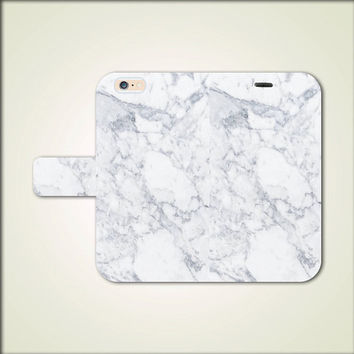 White Marble Granite Flip Leather Wallet case for iPhone 6 / 6s / 6 plus / 6 plus s / 5 / 5s / 4 /4s / 5c