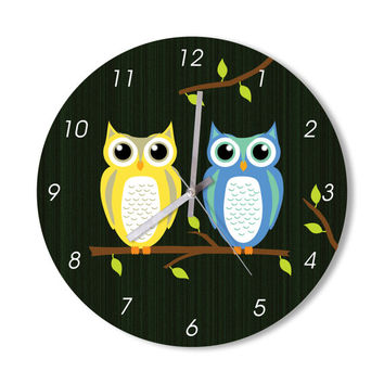 Wall Clock owl clock cute owl home decoration animal lovers wall art owl lovers living room children room clock cute doodle