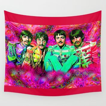 Sgt. Pepper's Lonely Hearts Club Band Wall Tapestry by JT Digital Art