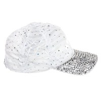 Crystal Case Women's Sequin Rhinestone Studded Baseball Cap Hat