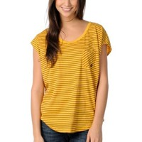 Volcom Girls Hug Me Yellow Stripe Sleeveless Circle Shirt at Zumiez : PDP