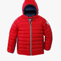 Canada Goose Kids' Youth Sherwood Hooded Jacket in Red - FINAL SALE