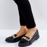 Missguided Chain Tassle Loafer at asos.com