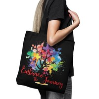 "EMBRACE THE JOURNEY Tree of Life * Unique Attractive Yoga Gift * Tote Bag 18""X18"""
