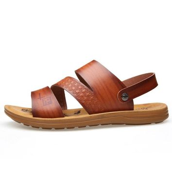 Men Opened Toe Soft Sole Water Sandals Beach Shoes
