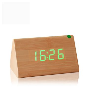 Decorative Table Clocks Control Sensing Alarm Temp Dual Display