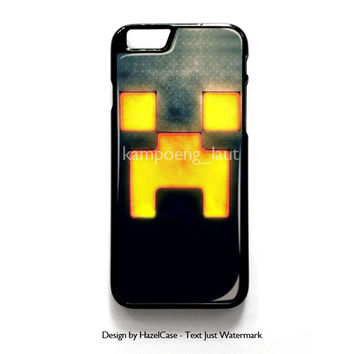 Minecraft Creeper Game Carbon Light for iPhone 4 4S 5 5S 5C 6 6 Plus , iPod Touch 4 5  , Samsung Galaxy S3 S4 S5 Note 3 Note 4 , and HTC One X M7 M8 Case Cover
