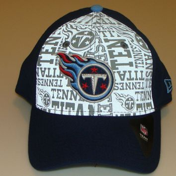 New Era Hat Cap NFL Football Tennessee Titans 39thirty S/M 2014 Draft Flex Fit