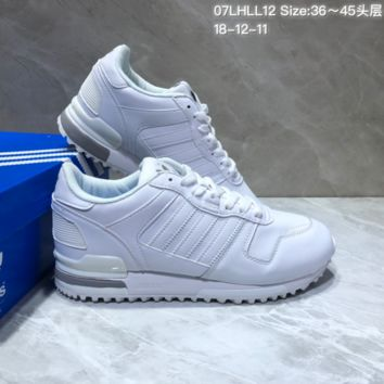 KUYOU A397 Adidas Originals ZX700 Leather Sports Running Shoes White