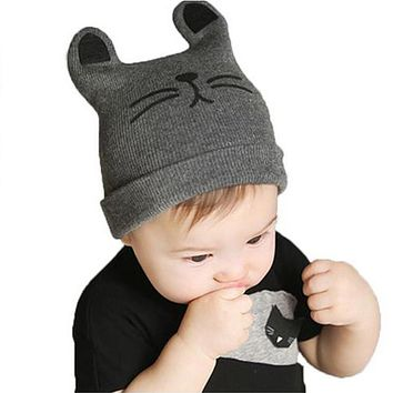 Baby Caps Autumn Winter Baby Hat Cotton Beanie Cap Infant Baby Boys Knitted Hats Caps For Baby Children Girls 0-12 months