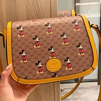 GUCCI Fashion New More Letter Mouse  Leather Women Shopping Leisure Shoulder Bag Crossbody Bag