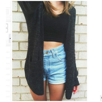 Cardigan Casual Loose Outerwear Jacket a11854