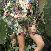 SAHA - Floral Beach Tunic | Shop Miami Style