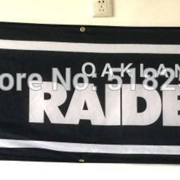 Oakland Raiders Banner 2x8FT NFL Flag