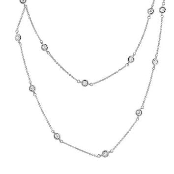 "Lab Created Diamonds by the Yard Necklace 22"", 24"" or 36"""