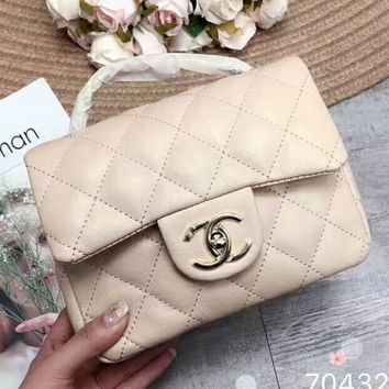Chanel 2018 new women's exquisite luxury handbag F-AGG-CZDL apricot