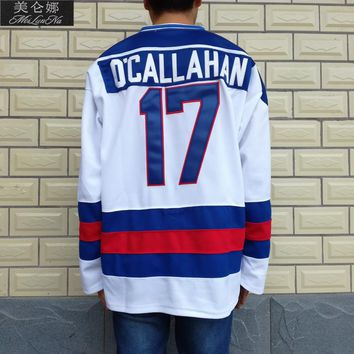 1980 Miracle On Ice Team USA #17 Jack O'Callahan White Hockey Jersey 1702