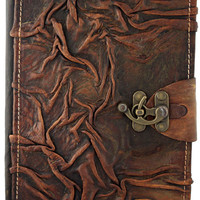 6x9 Wrinkle Leather Journal with Latch