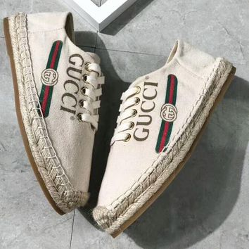 GUCCI 2018 new classic logo comfortable wild fisherman shoes F-OMDP-GD