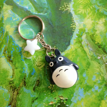 My neighbor Totoro Bag Charm, Studio Ghibli keychain, Anime Charms, Star Key Ring, Bag Accessories, Custom Star Keychain, Totoro Key Chain