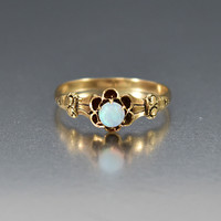 Victorian Antique Gold Opal Engagement Ring
