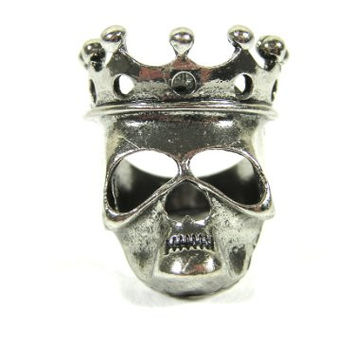 Skeleton King Ring Size 6 Undead Crown Skull Silver Tone Zombie Lord RH36 Cocktail Fashion Jewelry