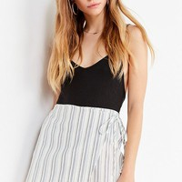 UO Jamie Striped Linen Skort Short | Urban Outfitters Canada