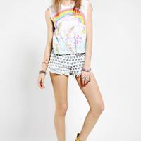 Lisa Frank X UO Unicorn Reflections Muscle Tee