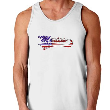 Merica Established 1776 - American Flag Style Loose Tank Top  by TooLoud