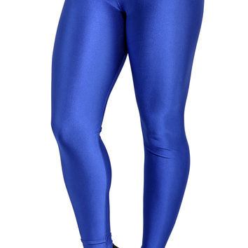 Blue Shiny Disco Leggings Design 236