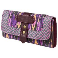 Mossimo Supply Co. Washed Print Wallet - Purple